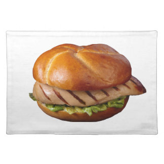 Chicken Breast Sandwich Cloth Placemat