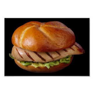 Chicken Breast Sandwich Poster