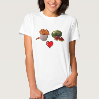 chicken-bucket1, watermelon[1], 491px-Heart_lef... Tee Shirt