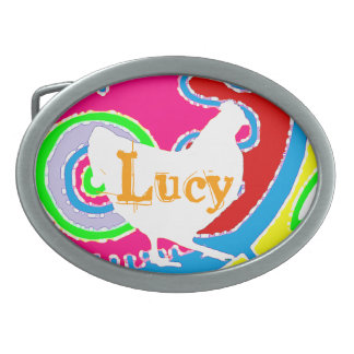 Chicken Buckle  Customize or leave blank Oval Belt Buckle
