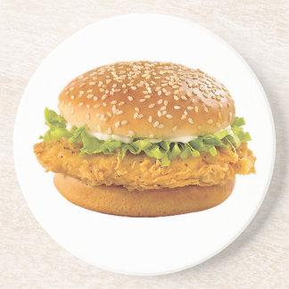 """""""Chicken Burger"""" design round coasters"""