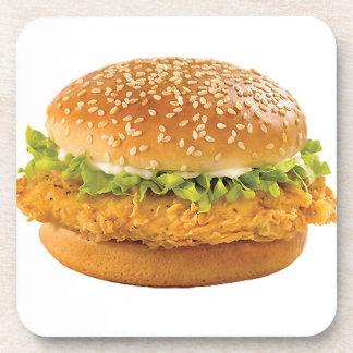 """""""Chicken Burger"""" design square coasters"""