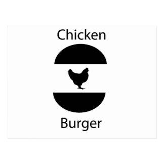 Chicken burger post cards