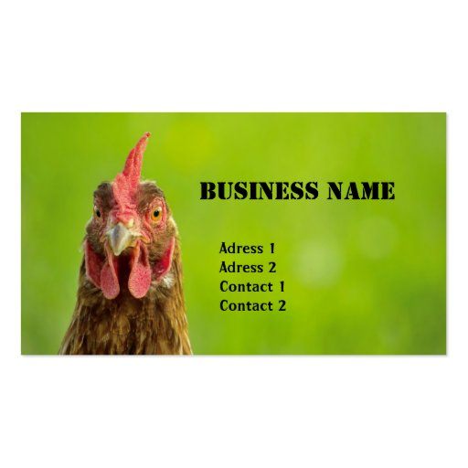 Networking card template