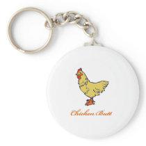 Chicken Butt Keychain