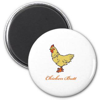 Chicken Butt 2 Inch Round Magnet