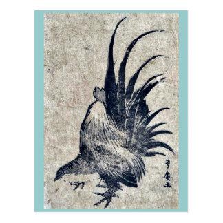 Chicken by Utagawa, Toyohiro Ukiyoe Postcard