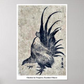 Chicken by Utagawa, Toyohiro Ukiyoe Posters