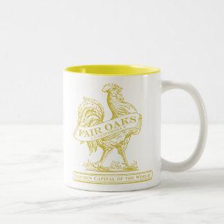 Chicken Capital mug gold