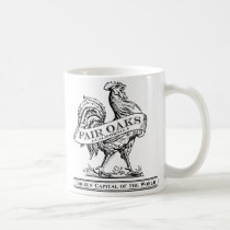 Chicken Capital mug white/black