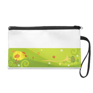 chicken cartoon characters wristlet purse