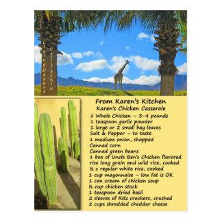 Chicken Casserole Recipe Postcard