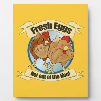 Chicken Catch Fresh Eggs Logo Plaque