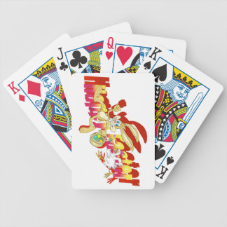 Chicken chasing Easter Bunny. Bicycle Playing Cards