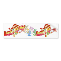 Chicken chasing Easter Bunny. Bumper Sticker
