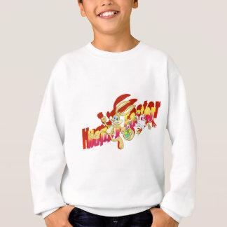 Chicken chasing Easter Bunny. Sweatshirt