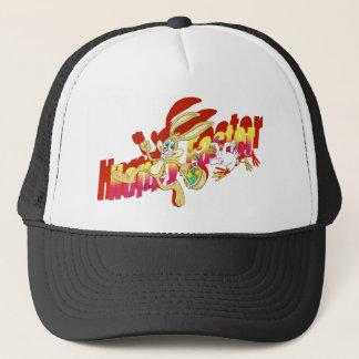 Chicken chasing Easter Bunny. Trucker Hat
