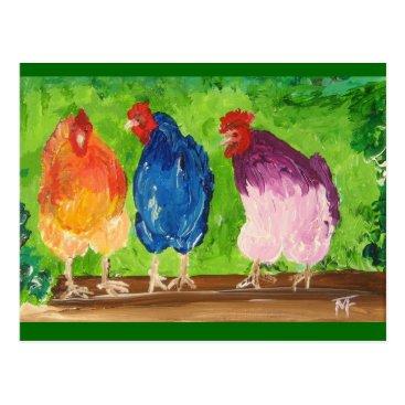 Nuancen Chicken Chat Postcard
