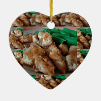 Chicken Chefs American healthy eating food cuisine Ceramic Ornament