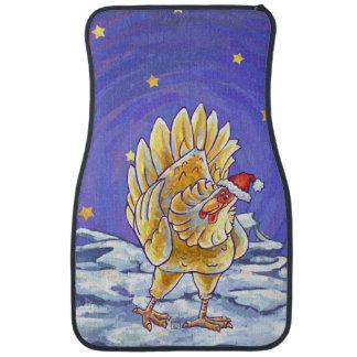 Chicken Christmas Car Mat