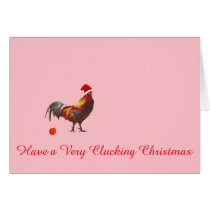 Chicken Christmas Greeting Card