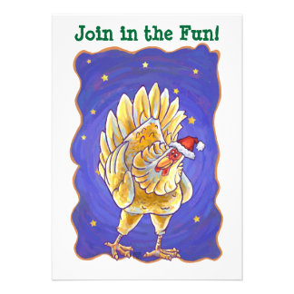 Chicken Christmas Custom Announcements