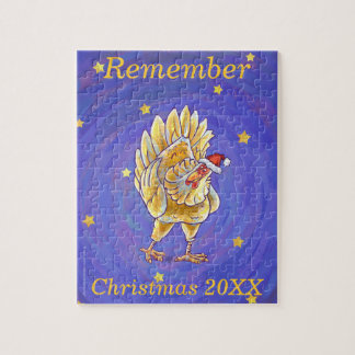 Chicken Christmas Jigsaw Puzzle