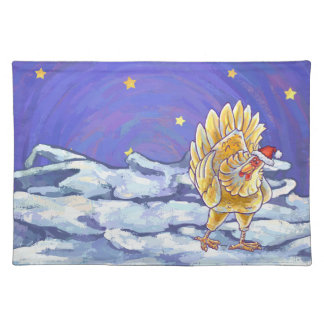 Chicken Christmas Placemat