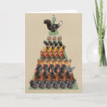 Chicken Christmas Tree Card