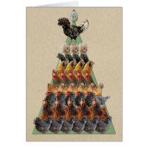 Chicken Christmas Tree Card