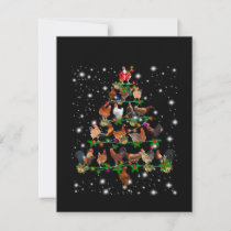 Chicken Christmas Tree Covered By Flashlight Thank You Card