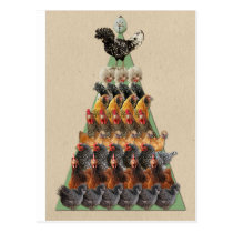 Chicken Christmas Tree Postcard