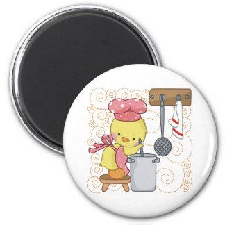 Chicken Cook 2 Inch Round Magnet