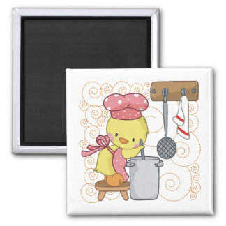 Chicken Cook 2 Inch Square Magnet
