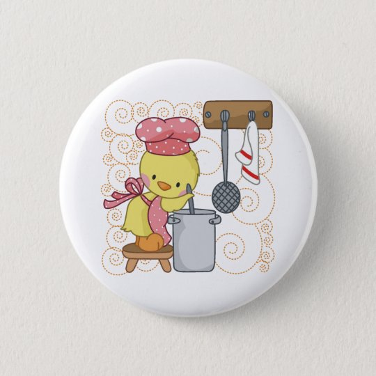 Chicken Cook Pinback Button