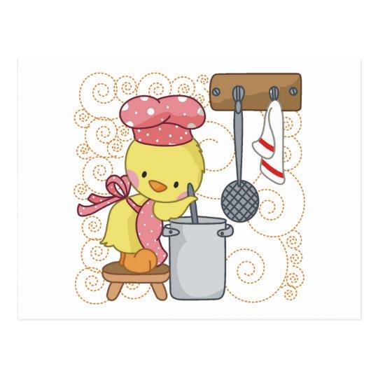 Chicken Cook Postcard