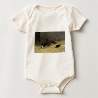 Chicken Coop by Paul Gauguin Baby Bodysuit