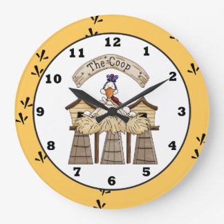 Chicken Coop country wall clock