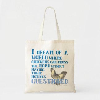 Chicken Cross Road Tote Bag