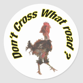 Chicken cross the road stickers