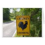 chicken crossing card