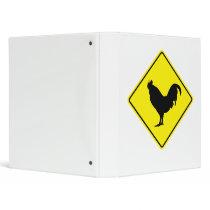 Chicken Crossing Road Binder
