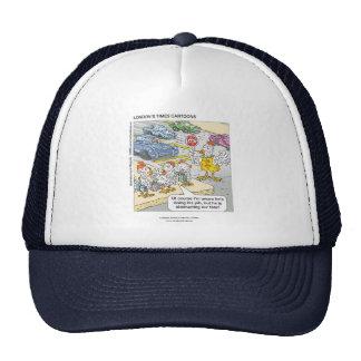 Chicken Crossing Road Funny Cap Trucker Hat
