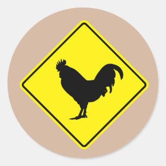 Chicken Crossing Road Sticker
