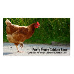 Chicken Crossing the Road Egg Farm Double-Sided Standard Business Cards (Pack Of 100)