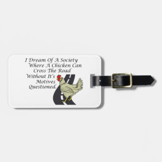 Chicken Crossing The Road Luggage Tag