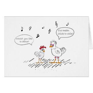 Chicken dance joke card
