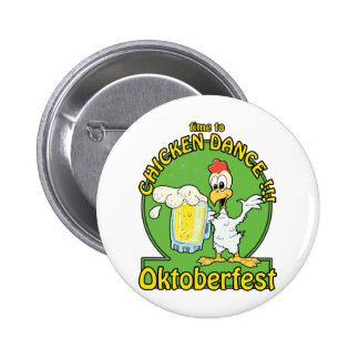 Chicken Dance Oktoberfest Button