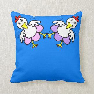 Chicken Dance Throw Pillow