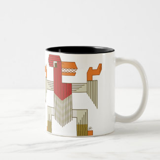 Chicken Dance Two-Tone Coffee Mug